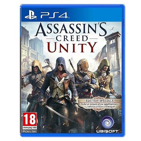 JOGO ASSASSINS CREED UNITY PS4