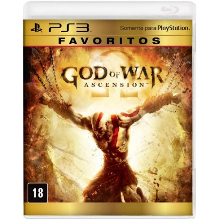 JOGO GOD OF WAR ASCENSION FAVORITOS PS3