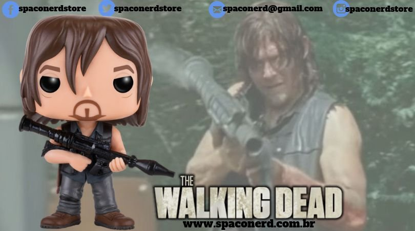 Funko Pop Vinyl Daryl Dixon com a bazuca - The Walking Dead