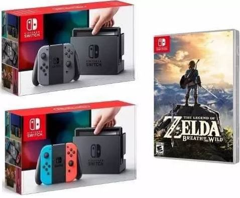Console Nintendo Switch +Jogo Legend Of Zelda Breath - Nintendo