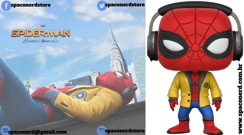 Funko Pop Vinyl Spider-Man with Headphones: Home Coming