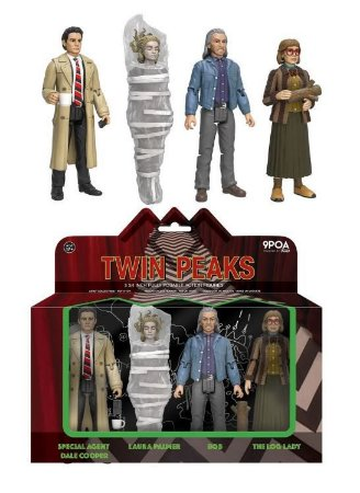 Funko Twin Peaks Dale Cooper, Laura Palmer, Bob, Log Lady 4 Pack Action Figure