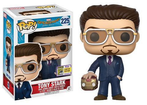 Funko Pop Vinyl Tony Stark com Máscara - Spider Man Homecoming - Edição SDCC Comic Con 2017