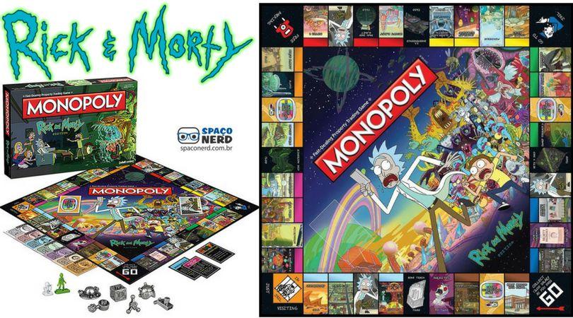 Monopólio: Rick and Morty - Edição Colecionador (Inglês)