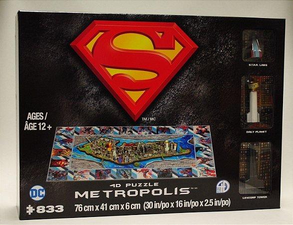Metropolis 4D Cityscape Puzzle [Superman, pôster Miniaturas]