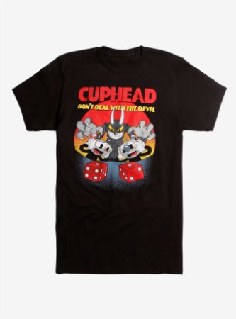 """T-Shirt Masculina Cuphead """"Do not Deal With The Devil"""""""