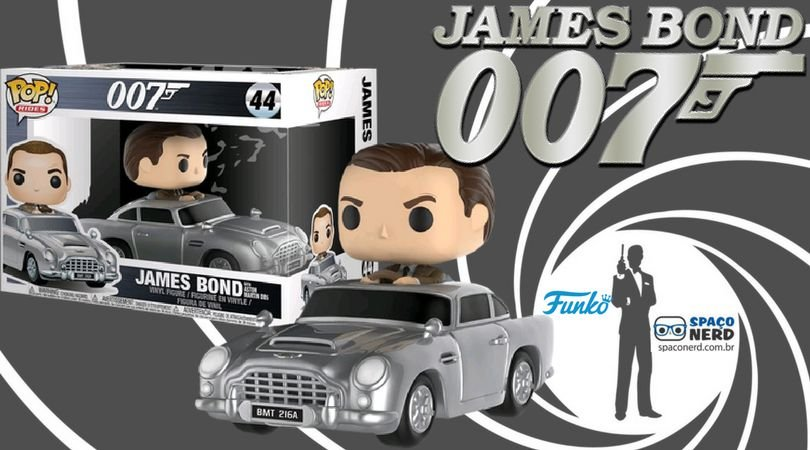 Funko Pop Vinyl Ride James Bond com Aston Martin