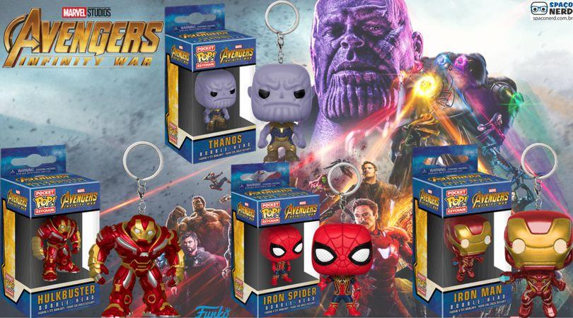 Chaveiro Pocket Avengers Infinity War