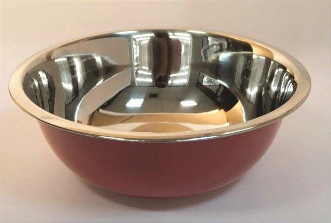 Bowl Vermelho 24cm Em aço Inox Fackelmann