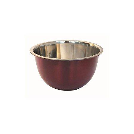 Bowl Vermelho 22cm Em aço Inox Fackelmann