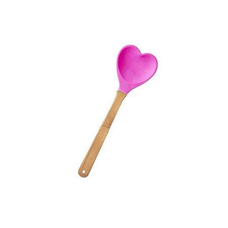 Colher Coração Pink Rice