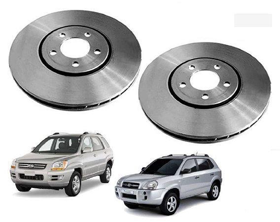 Par Disco De Freio Dianteiro Phc Original Hyundai Tucson 2.0 Kia Sportage 2.0 2005 a 2015