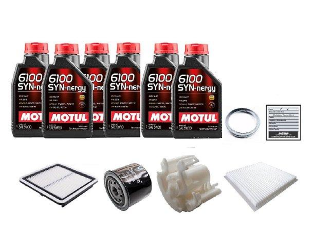 Kit De Filtros Subaru Tribeca Com Óleo Motul 6100 Syn-nergy 5W30 Sintético