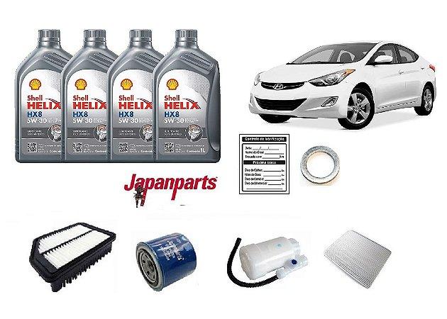 Kit De Filtros Hyundai Elantra 2.0 Com Óleo Shell 5W30 Sintético