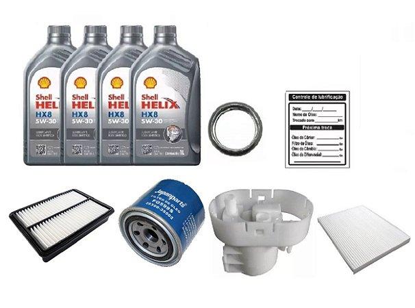 Kit De Filtros Hyundai Tucson 2.0 Gasolina Com Óleo Shell 5W30 Sintético