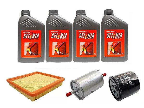 Kit De Filtros Chery QQ 1.1 Com Óleo Selenia 15W40 Semi-Sintético