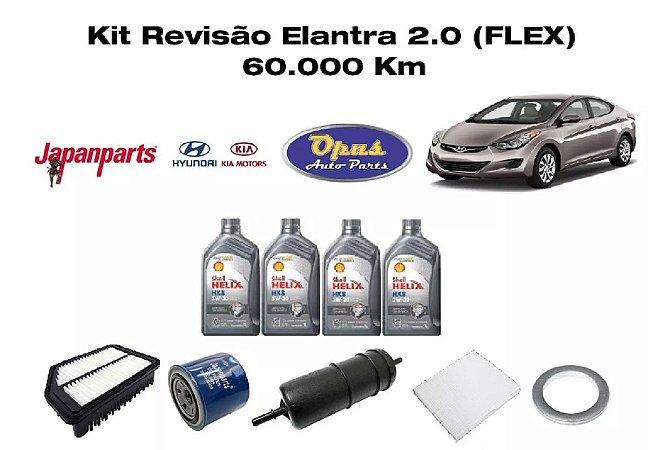 Revisão Hyundai Elantra 2.0 Flex 60 Mil Km