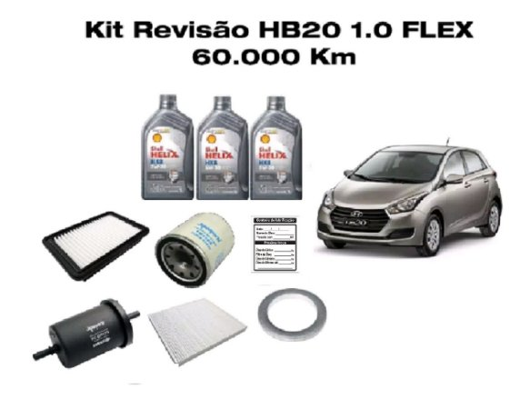 Revisão Hyundai Hb20 1.0 Flex 60 Mil Km