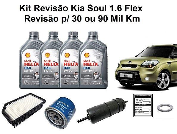 KIT REVISÃO KIA SOUL 1.6 FLEX 30 OU 90 MIL KM