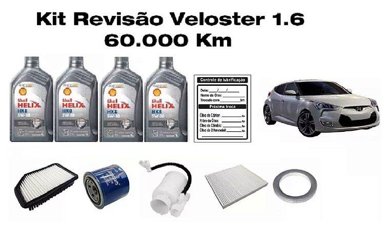 Kit Revisão Hyundai Veloster 1.6 60 Mil Km