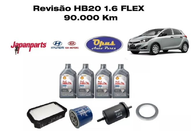 Revisão Hyundai Hb20 1.6 Flex 90 Mil Km