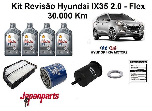 Kit Revisão Hyundai Ix35 2.0 Flex 30 Mil Km