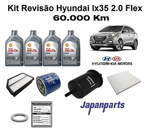 KIT REVISÃO HYUNDAI IX35 2.0 FLEX 60 MIL KM