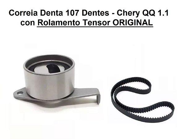 Kit Correia Dentada Chery QQ 1.1 107 Dentes Com Rolamento Original