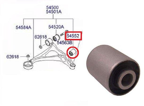Bucha Central Bandeja Inferior Suspensão Dianteira Hyundai Azera 3.3