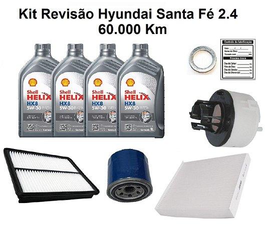 Kit Revisão Hyundai Santa Fé 2.4 60 Mil Km