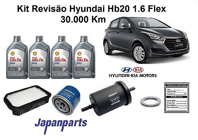 Kit Revisão Hyundai Hb20 1.6 Flex 30 Mil Km