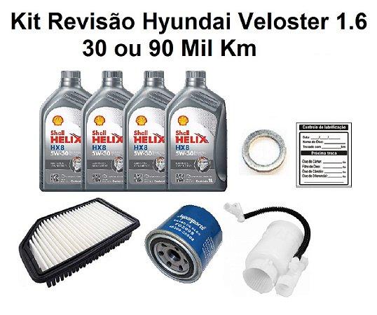 Kit Revisão Hyundai Veloster 1.6 Gasolina 30 Ou 90 Mil Km