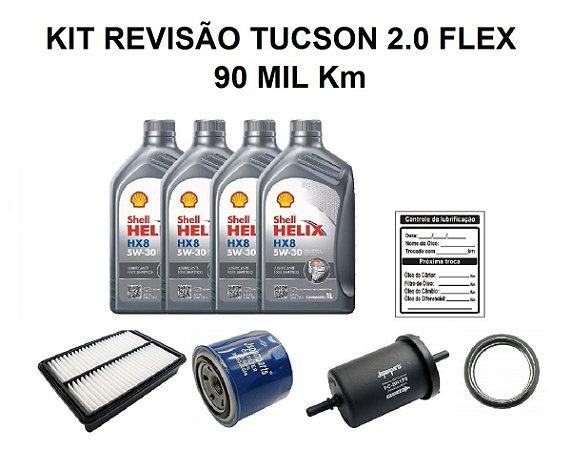 Kit Revisão Hyundai Tucson 2.0 Flex 90 Mil Km