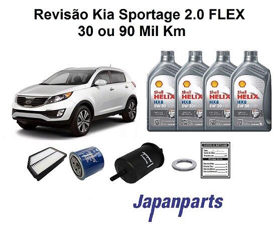 KIT REVISÃO KIA SPORTAGE 2.0 LINHA FLEX 30 OU 90 MIL KM