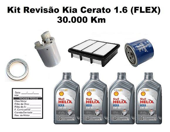 Kit Revisão Kia Cerato 1.6 Flex 30 ou 90 Mil Km 2014 A 2018