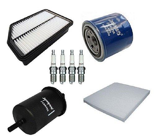 Kit De Filtros Hyundai Ix35 2.0 Flex Com Velas De Ignição NGK