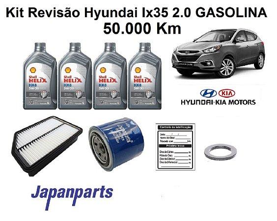 KIT REVISÃO HYUNDAI IX35 2.0 50 MIL Km - LINHA GASOLINA