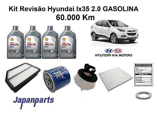 KIT REVISÃO HYUNDAI IX35 2.0 SPORTAGE GASOLINA 60 MIL KM