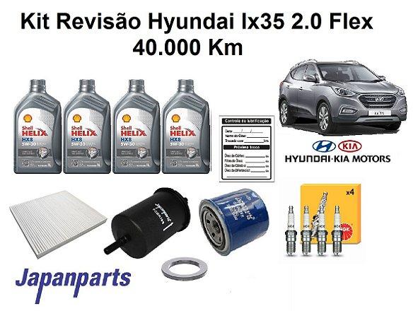 KIT REVISÃO HYUNDAI IX35 2.0 FLEX 40 MIL KM