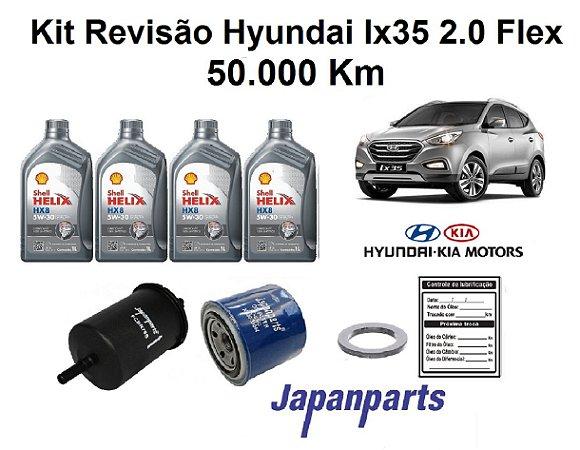 REVISÃO HYUNDAI IX35 2.0 FLEX 50 MIL KM