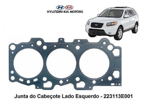 Junta Do Cabeçote Hyundai Santa Fé 2.7 De Amianto Lado Esquerdo