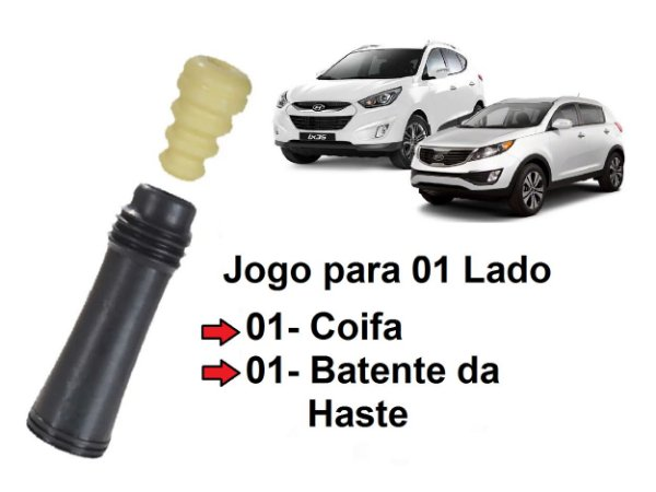 Kit Parcial Batente Da Haste Com Coifa Do Amortecedor Traseiro Hyundai Ix35 2.0 Kia Sportage 2.0