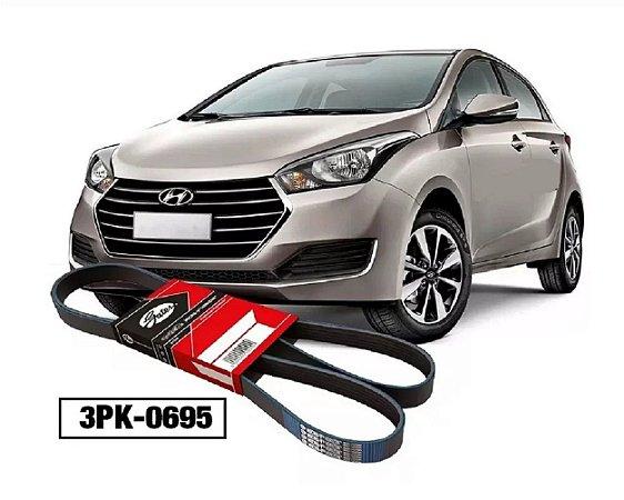 Correia Poli V Do Alternador Hyundai Hb20 1.0 12v