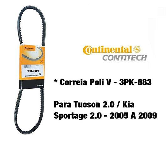 Correia Poli V Da Direção Hidráulica Hyundai Tucson 2.0 Kia Sportage 2.0