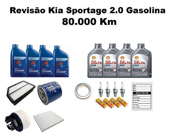 KIT REVISÃO KIA SPORTAGE 2.0 GASOLINA 80 MIL KM