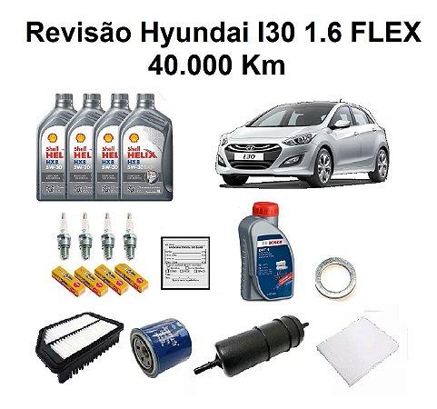 Kit Revisão Hyundai I30 1.6 Flex 40 Mil Km