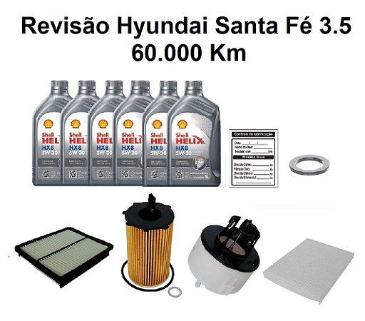Kit Revisão Hyundai Santa Fé 3.5 60 Mil Km