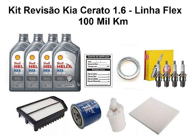 Kit Revisão Kia Cerato 1.6 Flex 100 Mil Km