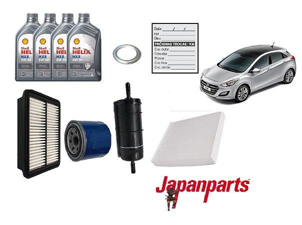 Kit De Filtros Hyundai New i30 1.8 Com Óleo Shell 5W30 Sintético