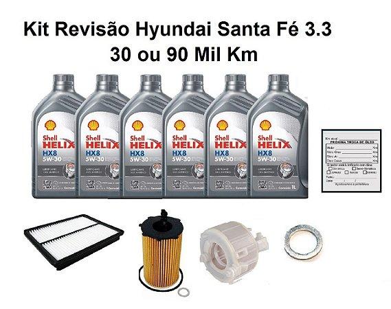 Kit Revisão Hyundai Santa Fé 3.3 30 ou 90 Mil Km